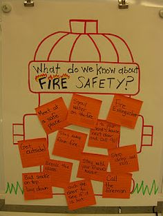 Cute Fire Safety Activities and a website to visit. Could do something like this for safety in the science lab, too.