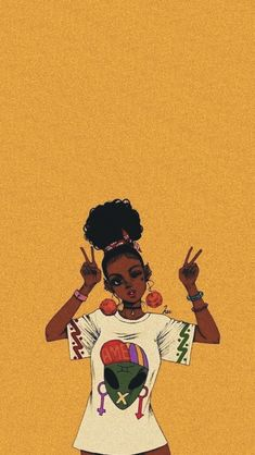 Most beautiful iphone wallpapers - Page 13 — wallpaper Black Love Art, Black Girl Art, Pop Art Girl, Black Girl Aesthetic, Aesthetic Art, Aesthetic Drawings, Aesthetic Painting, Aesthetic Backgrounds, Drawings Of Black Girls