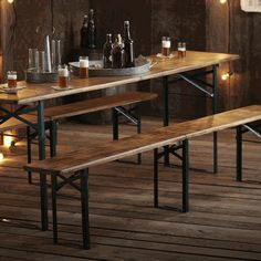 Roost German Style Biergarten Table And Benches   F204