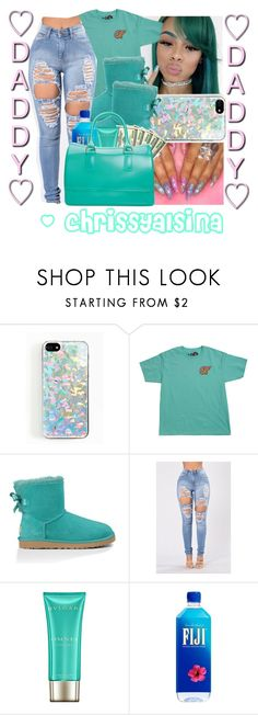 """""""Daddy sure does know how to make me happy """" by chrissyalsina ❤ liked on Polyvore featuring Zero Gravity, UGG Australia, Bulgari and Furla"""