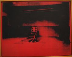 Electric Chair (red) by Andy Warhol.