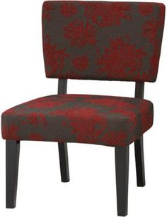 Shop Staples® for Linon Taylor Fabric Black Flower Accent Chair, Red/Gray. Enjoy everyday low prices and get everything you need for a home office or business. Get free shipping on orders of $49.99 or greater. Enjoy up to 5% back when you become