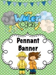 CUTE pennant banner for your water cycle unit bulletin board or classroom decor! Only $2!