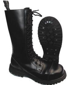 Knightsbridge 14-Loch Springerstiefel UK Gothic Style Boots schwarz Gr. 37 - 47 - http://on-line-kaufen.de/knightsbridge/knightsbridge-14-loch-springerstiefel-uk-gothic