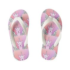 Unicorn Llama girls thongs flip flops Baby Alive Doll Clothes, Baby Alive Dolls, Personalized Flip Flops, Personalized Gifts, Girls Flip Flops, Unicorn Kids, Summer Gifts, Little Designs, Cute Pink