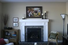 slate tile fireplace surround | RE: Show me your tile or granite fireplace surround!!