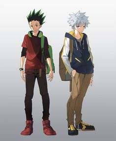 Gon Freecss and Killua Zoldyck