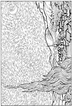 coloring page Vincent van Gogh on Kids-n-Fun. Coloring pages of Vincent van Gogh on Kids-n-Fun. More than coloring pages. At Kids-n-Fun you will always find the nicest coloring pages first! Vincent Van Gogh, Arte Van Gogh, Van Gogh Art, Art Van, Cool Coloring Pages, Adult Coloring Pages, Van Gogh For Kids, Van Gogh Pinturas, Art Handouts