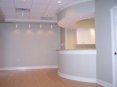 Office Reception Area. I Would Paint The Walls Another Color But Very Nice  Setup!