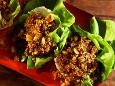 Get Quinoa Pilaf in Lettuce Cups Recipe from Food Network