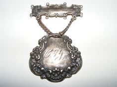 Steampunk T Foree antique sterling silver Brooch pin