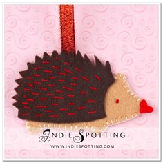 Hedgehog Love: DIY Ornament Craft Project