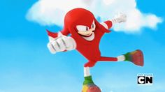 Knuckles going Super Saiyan. Oh gosh! I died at this part. Dont Let Go, Let It Be, Awesome Art, Cool Art, Sonic Funny, Speed Of Sound, Echidna, Sonic Boom, Pissed