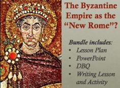 """All in one bundle! A Common Core-aligned comprehensive lesson that asks students to assess to what extent Justinian revived the old Roman empire or created a """"new"""" Byzantine empire.  Uses visuals, primary source analysis, class discussion, partner work, and independent analytical writing. Works well for AP and Regents classes. Includes a writing lesson on crafting thesis paragraphs, broken down step by step with example paragraphs aligned to the DBQ!"""