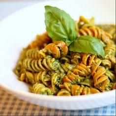 Kale and basil pesto, made vegan- did i mention i love pesto?!