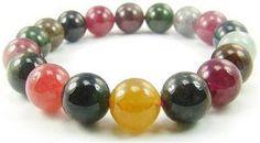#Gemstone #Tourmaline BA5112 Multicolors Tourmaline Natural Crystal Stretch Bracelet