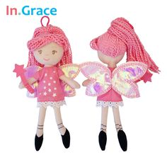 InGrace pretty fairy magic mini dolls with star wand shining wings red princess doll for girls handmade cheap little toys 23cm #>=#>=#>=#>=#> Click on the pin to check out discount price, color, size, shipping, etc. Save and like it!