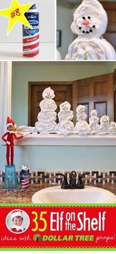 Shaving Cream Snowmen
