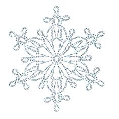 Crochet Patterns Filet, Crochet Snowflake Pattern, Crochet Lace Edging, Christmas Crochet Patterns, Crochet Snowflakes, Crochet Diagram, Crochet Doilies, Crochet Flowers, Crochet Angels