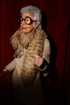 Iris Apfel at W Magazine's 40th Anniversary Party  [Photo by Evan Falk]