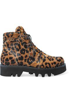 7dbc217c45dd Tabitha Simmons Neir Leopard-print Calf Hair Ankle Boots - Leopard print