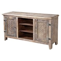 Perfect for displaying your new flat screen or an array of cherished family photos, this 3-shelf wood media console offers a cottage-chic focal point for you...