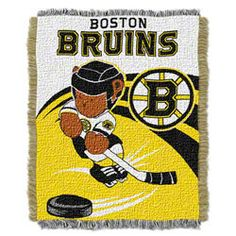 Boston Bruins Woven Jacquard Baby Throw  $24.99 http://www.fansedge.com/Boston-Bruins-Woven-Jacquard-Baby-Throw-_800229526_PD.html?social=pinterest_pfid47-31828