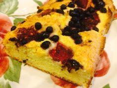 Slavni LCHF recept za kolač s jogurtom na lchf način (kokos brašno i psyllium) sa malinama i borovnicama je tu :D