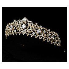 Gold Rhinestone Crystal Bridal Wedding Headband