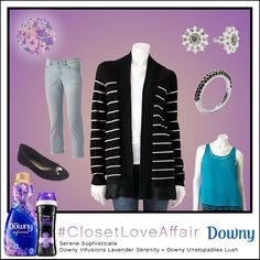 This Serene Sophisticate look was inspired by Downy Infusions Lavender Serenity and Downy Unstopables Lush. This outfit will make you feel comfortably-classic with its popping blue blouse and subtly-accented accessory pieces. To shop this look, visit the LC Lauren Conrad collection available only at Kohl's. To register for the #ClosetLoveAffair sweepstakes visit https://downy.promo.eprize.com/pinterest/.