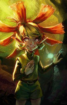 The Legend of Zelda : Ocarina of Time The Legend Of Zelda, Legend Of Zelda Breath, Saria Zelda, Deep Forest, Twilight Princess, Breath Of The Wild, Light Art, Cool Art, Concept Art