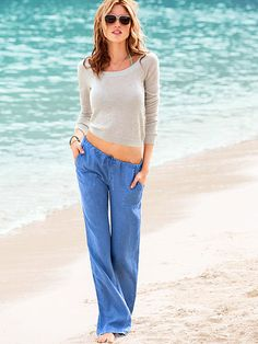 The Beach Pant in Linen