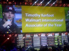 Walmart Canada's Rockstar! Congratulations Tim for winning Walmart International Associate of the Year! We are so proud of you!