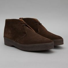 Sanders Joel Chukka Boot in Dark Brown Snuff Suede