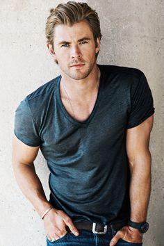 Chris Hemsworth by Sebastian Kim for GQ, 2014