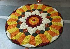 Easy Rangoli Designs Diwali, Rangoli Designs Latest, Rangoli Designs Flower, Rangoli Ideas, Rangoli Designs Images, Flower Rangoli, Beautiful Rangoli Designs, Simple Rangoli, Flower Mandala