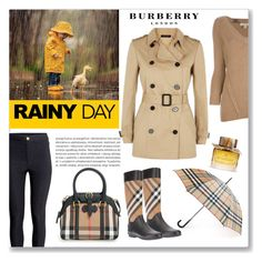 """""""Rainy day"""" by veronica7777 ❤ liked on Polyvore featuring moda, Burberry, H&M, Oris e Jaeger"""