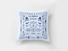 Doctor Who pillow sampler Cross stitch by cloudsfactory