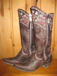 Rivertrail Mercantile - Old Gringo Gayla Razz Chocolate Boots, $540.00 (http://www.rivertrailmercantile.com/old-gringo-gayla-razz-chocolate-boots/)