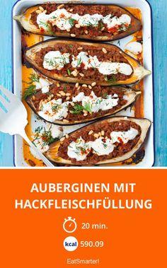 Auberginen mit Hackfleischfüllung - smarter - Kalorien: 590.09 kcal - Zeit: 20 Min. | eatsmarter.de