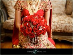 Red and Gold wedding flowers