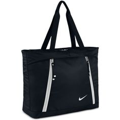 Nike Auralux Tote Bag featuring polyvore, women's fashion, bags, handbags, tote bags, black, handbags tote bags, nike handbags, handbags totes, nike tote bag and tote bag purse