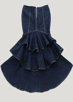 Высокое качество новый бренд 2015 мода тонкий русалка стиль высокой талии стрейч длинные джинсовые юбки с кистями женская ласточкин хвост юбка, принадлежащий категории Юбки и относящийся к Одежда и аксессуары для женщин на сайте AliExpress.com | Alibaba Group
