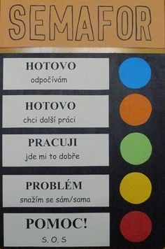 TŘÍDNÍ PRAVIDLA + SEMAFOR :: NAŠE TŘÍDA School Classroom, Classroom Decor, Class Rules, Kids Zone, Thing 1, School Psychology, My Journal, Teaching Tips, Primary School