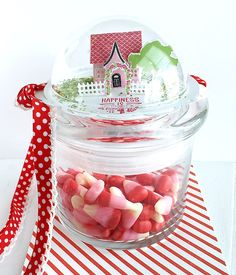 Happiness Is Handmade Treat Jar by Danielle Flanders for Papertrey Ink (January 2016)