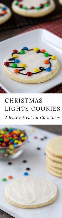 Guaranteed to please kids of all ages, Christmas Lights Cookies are an easy and fun Christmas cookie to make for holiday gatherings. Perfect for cookie exchanges! #christmascookies #christmas via @https://www.pinterest.com/fireflymudpie/
