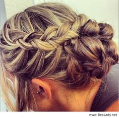 Braided updo - BeaLady.net