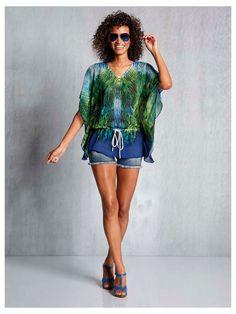 #Drucktunika #Shorts #Sonnenbrille #Sandalette