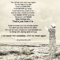 You will die over and over again, for the rest of my life. Grief is FOREVER . step by step, breath by breath. I will never STOP grieving Because I will never stop loving you Miss You Mom, I Miss Him, Missing My Son, Grieving Mother, Grieving Quotes, Grief Loss, My Beautiful Daughter, Angels In Heaven, Love You Forever