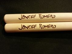 Custom engraved drumsticks for Plinio from 3dcarving on Etsy